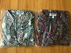 EXPRESS Portofino Long Slv Shirts NAVY BLUE or FLORAL or MULTICOLOR Size MEDIUM