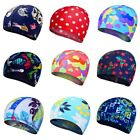 Kid Girl Boy Caps Elastic Swimming Cap Waterproof Protect Ears Swim Pool Hat USA