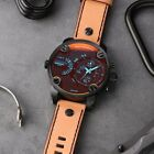 Mens Diesel Little Daddy Watch 51mm DZ7408 Black Tan New With Box 2 Bands