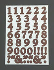 Creative Memories Stickers 1 Sheet of Numbers Acid Free Photo Safe Brown