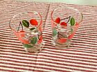 6 Vintage Cherry Juice Glasses Cherries Retro Kitchen Libby fruit