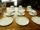 Hazel Atlas Colonial Kitchen pattern Teal Colored 18 Piece Dinnerware Set 1960s
