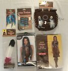 Woman Native American Custom Set Dress Wig Necklace Earring Hairpiece And Purse