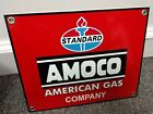 Standard Amoco gas oil gasoline Sign