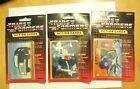 (3) 1985 HASBRO TRANSFORMERS SEALED PACKS - 8 CARDS 1 STICKER PER PACK SERIES 1