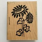Sunflower Rubber Stamp Stampin Up Flower Summer Stylish Card Craft Wood Mounted