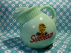 Jadeite Green Glass Sunbeam Bread Girl Tilt Ball Pitcher in Excellent Condition