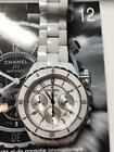 Chanel J12 chronograph diamond bezel H1007 white