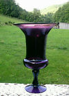 HUGE MURANO Amethyst Pedastal Apothecary Vase 145H x 775W STUNNING COLOR