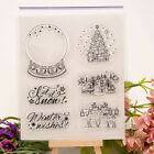 Christmas Crystal ball transparent Silicone Clear Stamp Scrapbook Album Decor RS
