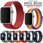 For Apple Watch Series 4 3 2 1 38/40 42/44mm Woven Nylon Loop iWatch Band Strap