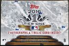 2016 Topps Tier One Baseball Factory Sealed Hobby Box