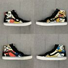 Disney High Top Vans Mickey Mouse Goofy Donald Duck Pluto Mens 105 Womens 12