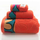 Cotton Towel Set 3pcs Bath Hand Face Solid Color Material Cotton