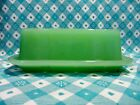 Jadeite Green Glass 1 Stick Criss-Cross Butter Dish with Lid in Excellent Cond