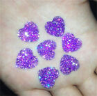 DIY 20PCS Purple AB Resin Heart flatback Scrapbooking for phone wedding craft