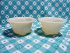 Vintage Fire King Ivory 6oz Individual Baker x 2 in Excellent Condition