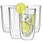 JoyJolt Spike Double Wall Glasses 135 Ounce Cocktail Drinkware Glass set of 4
