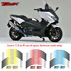For YAMAHA TMAX #style 3 Cool wheel stickers Motorcycle wheel paster Rim Decal