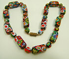Vintage Murano Glass Micro Millefiori 03 x 07 Bead Necklace High Quality 16