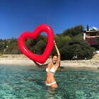 Large Red Heart Pool Float for Adults Soft Touch PVC Glossy Finish For Summer