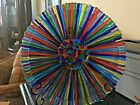 Due Zeta Murano Italian Art Glass Large Plate Charger Gorgeous Colors MINT