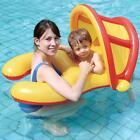 Pool Float With Sun Shade Canopy Inflatable Mom and Baby Swimming Ring PVC