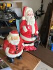 Vintage United Products  Empire Santa Blow Mold Plastic Lighted