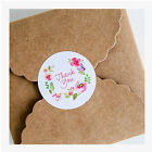 80Pcs Flower Round Stickers Thank You Paper Labels For Gift Packaging Tag Decor