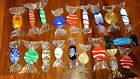 Vintage MURANO Italy Lot 18 Lg Pcs Venetian Glass Wrapped Hard Candy LABEL RARE