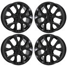 19 JEEP COMPASS GLOSS BLACK WHEELS RIMS FACTORY OEM 2018 2019 SET 9192