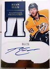 SICK GOLD 25 RYAN ELLIS DOMINION NAMEPLATE PATCH JERSEY ROOKIE AUTO 2011 12