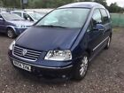 VW SHARAN 2004  WHEEL CHAIR MOBILITY VEHICLE  MINOR DAMAGE CAT N