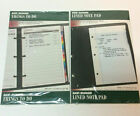 2 Day Runner Things To Do List + Lined Note Pad Refill 3 Ring 55 x 85 Sealed