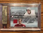 NICKLAS LIDSTROM DION PHANEUF DUAL ON CARD AUTO JERSEY CARD '06-07 IN THE GAME !