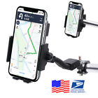Wireless Motorcycle Charger Phone Mount 2x Bracket for Handlebar Mirror Screw US