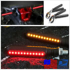 4 x Motorcycle 24 LED Flowing Turn Signal Flash Brake Light&DRL Light Waterproof