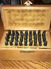 36pc Number and Letter Punch Set 1 4 Hardened Steel Metal Die Jewelers w Case