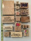 Lot of 15 Birthday and Party Rubber Stamps