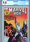 Marvel Age 1 CGC 98 White Pages Marvel Comics 1983