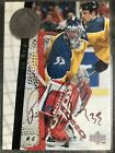1996 UD Be A Player Hockey Patrick Roy In The Crease With Richter - Auto. Card