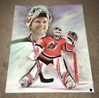 Martin Brodeur Devils NHL Signed Auto 20x24 Custom Mounted Canvas Display