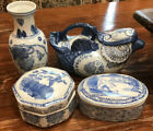 4 Chinese Import Pieces 2 Trinket 1 Vase 1 Teapot All Signed NO RESERVE