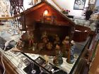 Vintage Italian Nativity Set Christmas Manger Creche 10 Figures Made in Italy