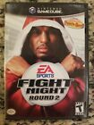 Fight Night Round 2 Nintendo GameCube 2005 W Super Punch Out Near COMPLETE
