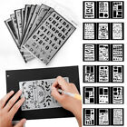20 Pcs Journal Stencil Set Plastic Planner DIY Drawing Template Diary Book DIY