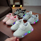 LED Child Boy Girl Light Up Sneakers Trainers Kids Gift Baby Luminous Shoes US