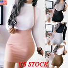Womens Girl Slim High Waisted Skirt Ladies Party Suspender Mini Dress Bodycon