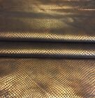 Copper Snakeskin Embossed Genuine Leather Hides Craft Upholstery Material 402