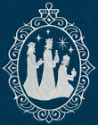 SILENT NIGHT NATIVITY CAMEO  EMBROIDERED QUILT BLOCKS SET OF SIX